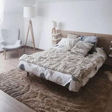 amenagement chambre cocooning fausse fourrure