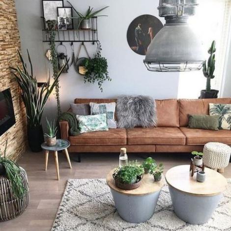 coach décoration intérieur salon plantes