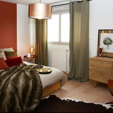 plaid amenagement chambre cocooning