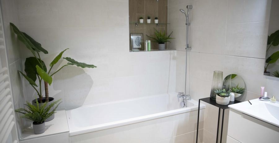 appartement duplex témoin à Besançon - salle de bains