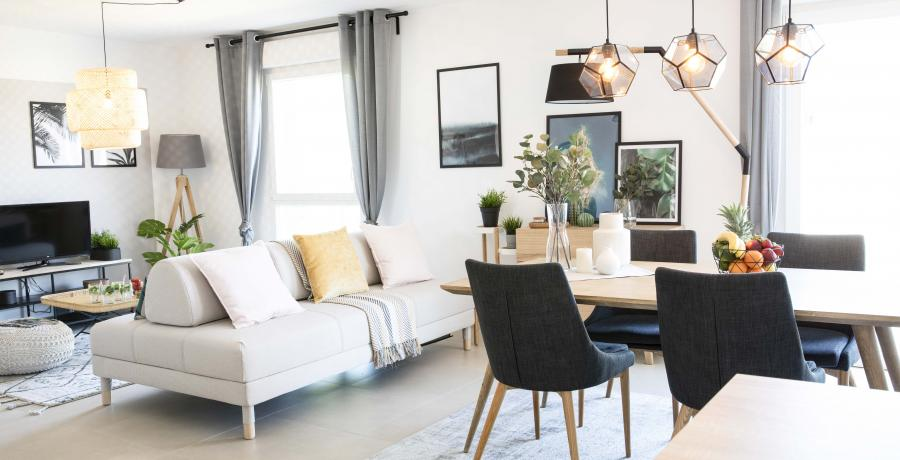 appartement duplex témoin à Besançon - séjour