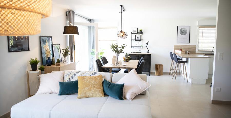 appartement duplex témoin à Besançon - salon