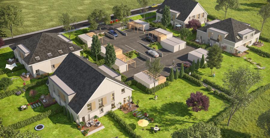 appartements duplex à keffendorf vue aerienne : les carrés tertra