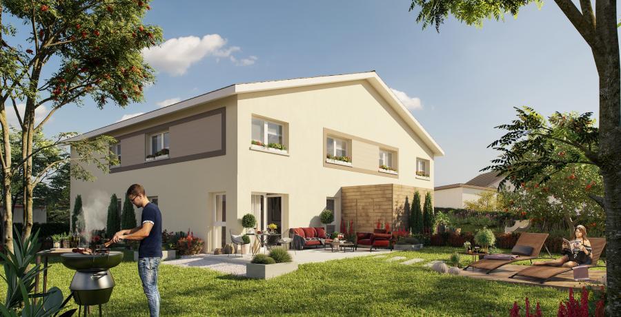Appartement neuf Duplex-Jardin à Mamirolle