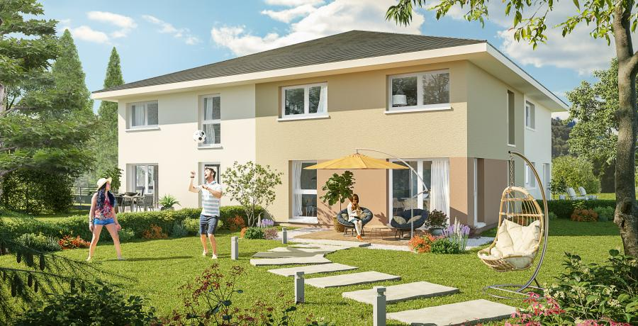 Appartement neuf Duplex-Jardin à Marcellaz