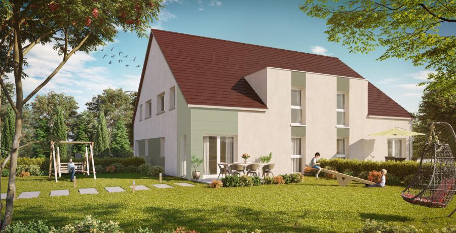 Appartement neuf Duplex-Jardin à Moval