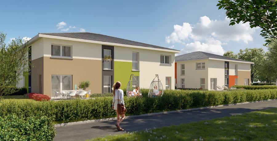 Appartement neuf Duplex-Jardin à Thann