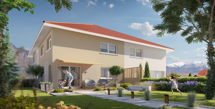 Appartement neuf duplex-jardin à Vougy