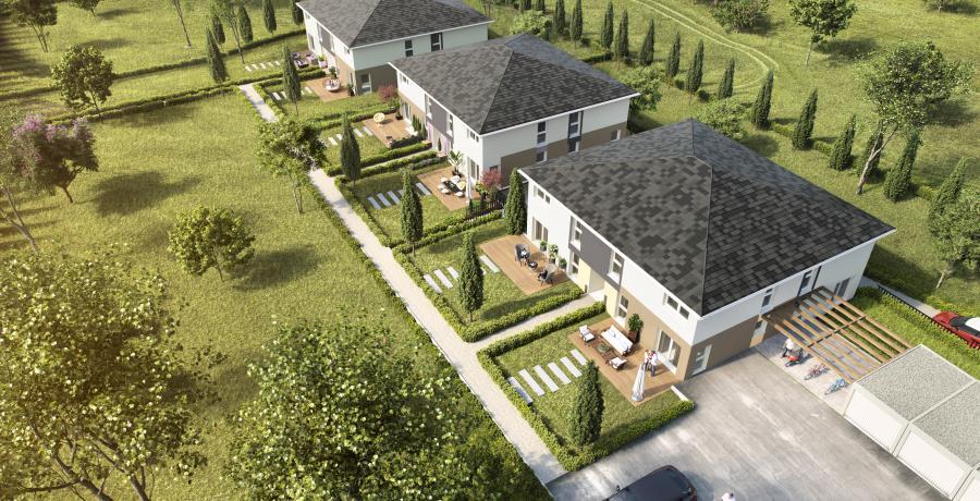 Appartement neuf Duplex-Jardin à Wintershouse aérien