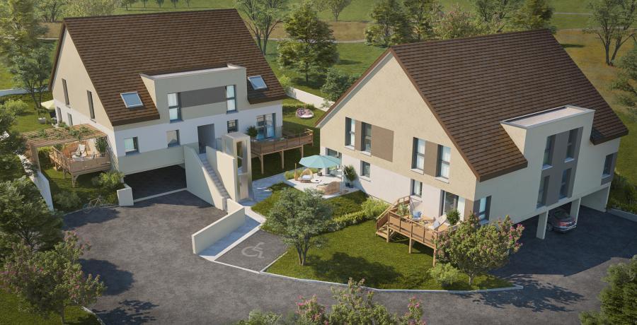 Appartement neuf Duplex-Jardin à Dijon vue aérienne