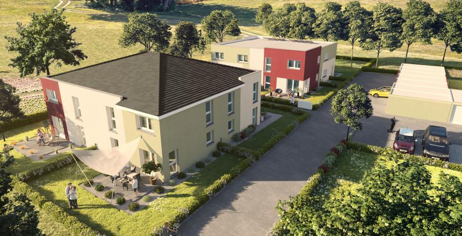 Aérien Appartement neuf Duplex-Jardin à Soultz-Haut-Rhin