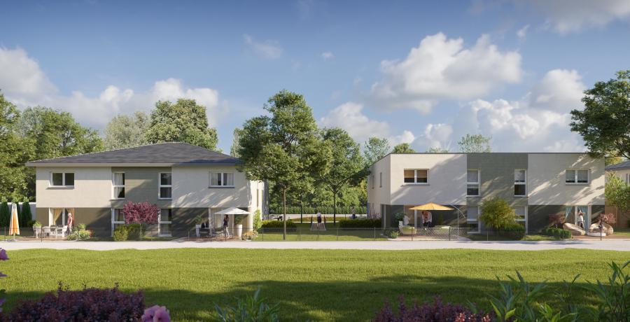 Appartement neuf Duplex-Jardin à Gries