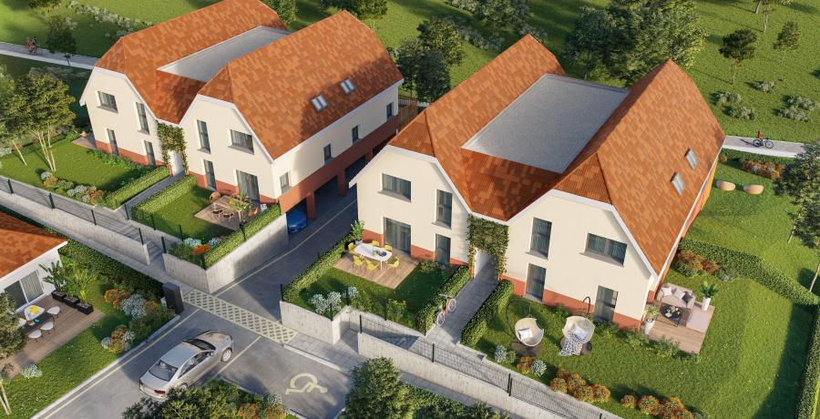 vue aérienne duplex jardin boersch