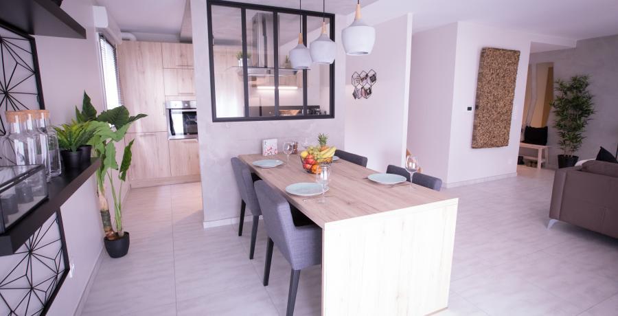 programme immobilier neuf à minversheim : carrés flow, duplex-jardin salle de séjour