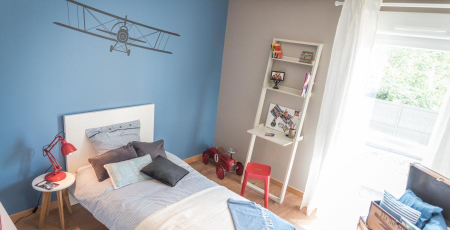 appartement duplex témoin à Saint-Andéol-le-Château - chambre enfant