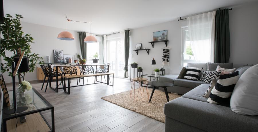programme immobilier neuf à la motte-servolex: les carrés azur, duplex-jardin salon