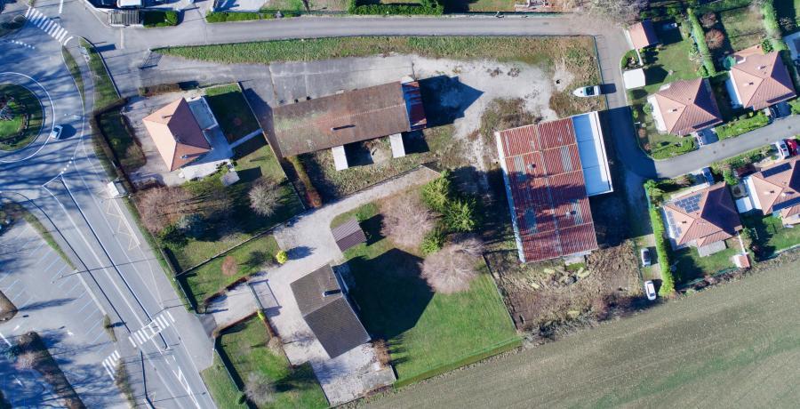 vue terrain programme immobilier neuf à Douvaine - Aubonne : les carrés d'Orion, duplex-jardin