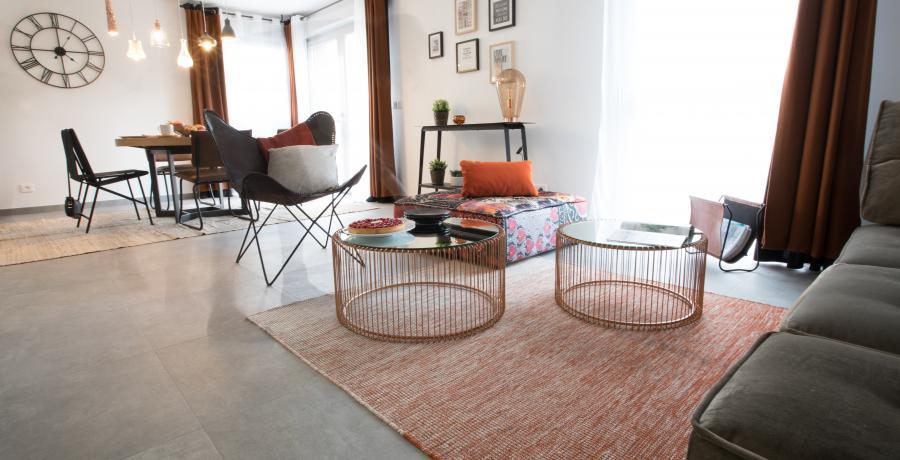 programme immobilier neuf à Marcellaz : les carrés de gavillet, duplex-jardin séjour