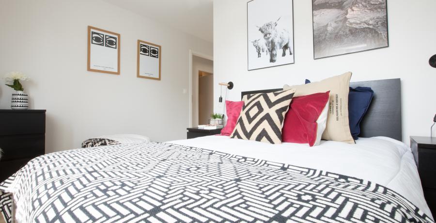 programme immobilier neuf à gries: les carrés des cinq tertres, duplex-jardin chambre