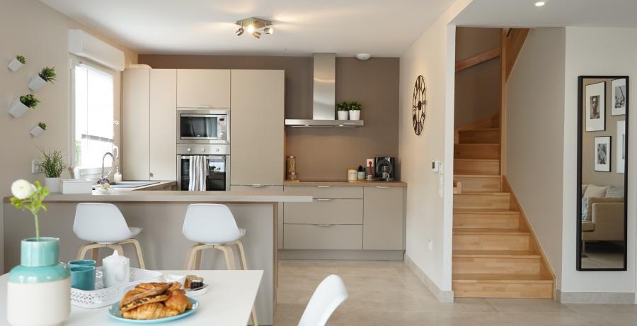 programme immobilier neuf à delle : les carrés des écoliers, duplex-jardin séjour