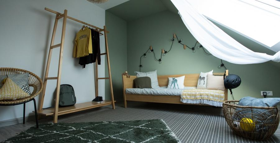 programme immobilier neuf à bourgoin-jallieu : les carrés des trèfles, duplex-jardin chambre enfant