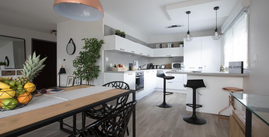 programme immobilier neuf à Valleiry : les carrés du sorbier, duplex-jardin cuisine