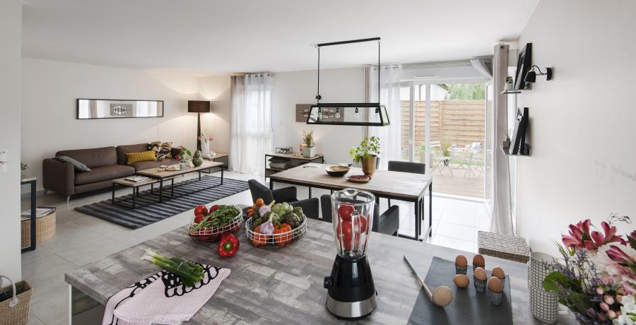 programme immobilier neuf à muespach-le-haut : les carrés jazz duplex jardin séjour