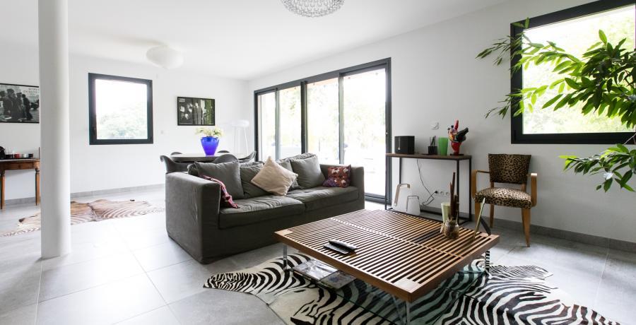 programme immobilier neuf à vigoulet-auzil : les carrés natura, duplex-jardin salon