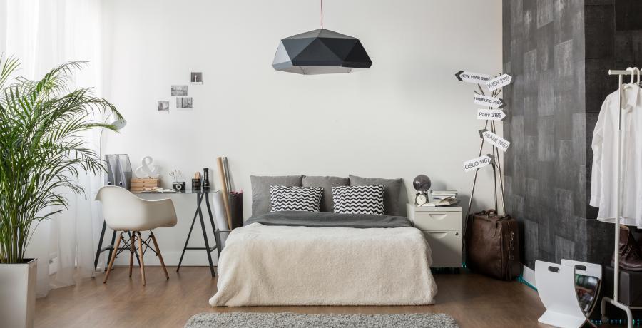 programme immobilier neuf à dijon: les carrés néha, duplex-jardin chambre
