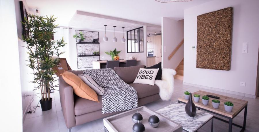 programme immobilier neuf à wasselonne : les carrés origami, duplex-jardin salon