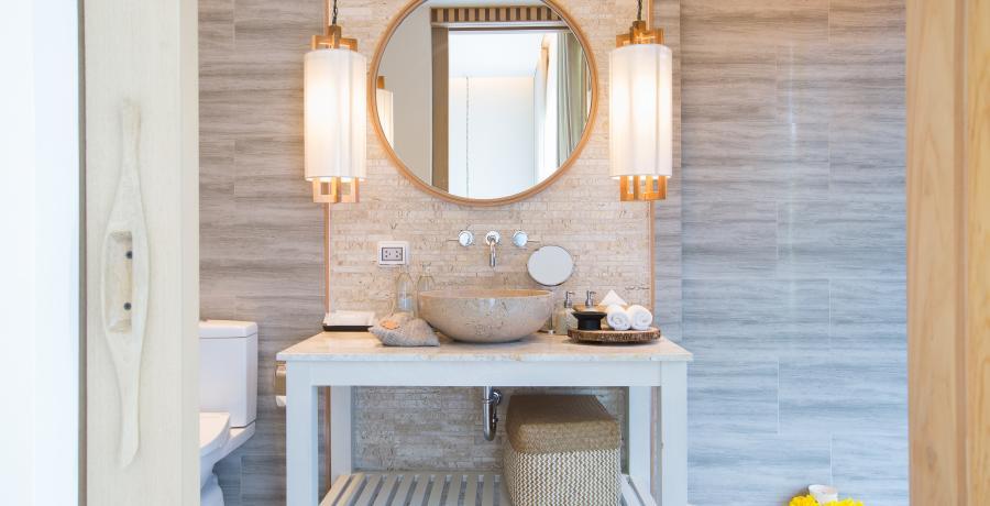 Programme immobilier neuf à Vougy : les Carrés des Valérianes, duplex-jardin salle de bain