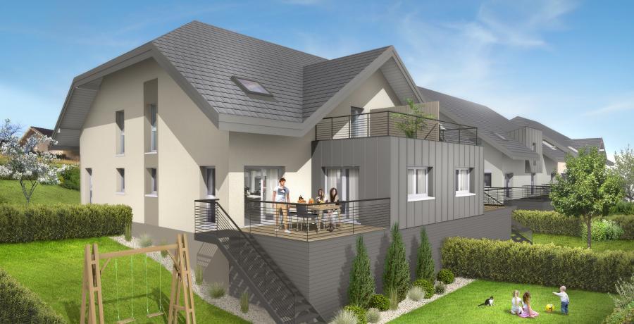 Appartement neuf Duplex-Jardin à Mouxy