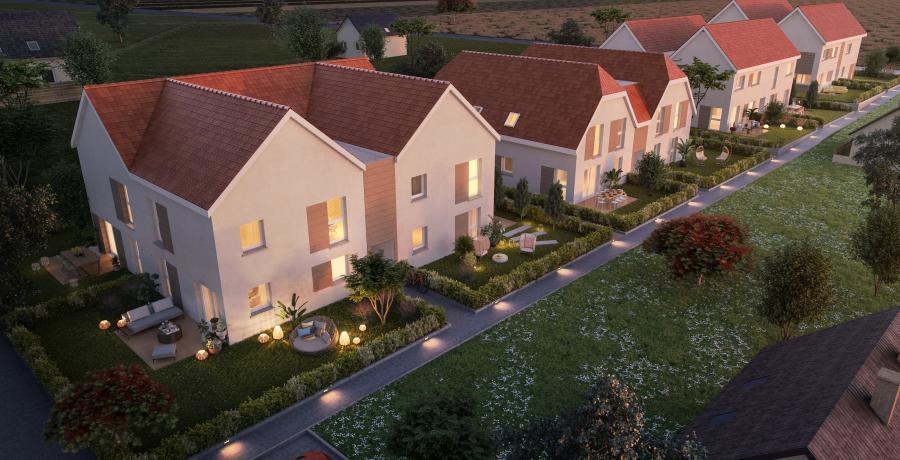 vue aérienne duplex jardin innenheim
