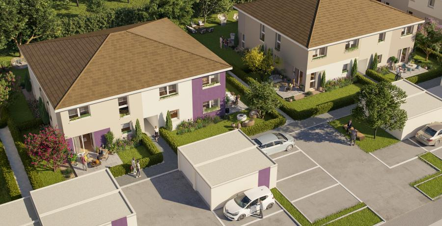 Appartement neuf Duplex-Jardin visuel aérien à cernay