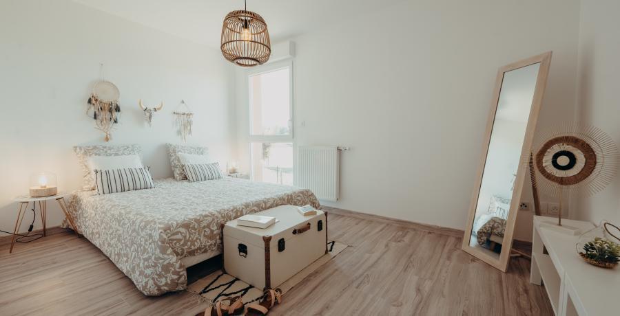 appartement duplex témoin à Toulouse - chambre parentale