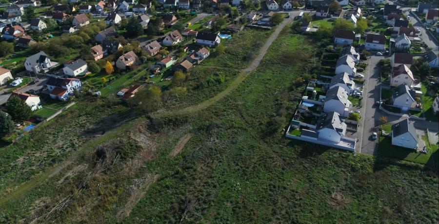 vue aérienne terrain les carrés ciconia duplex-jardin