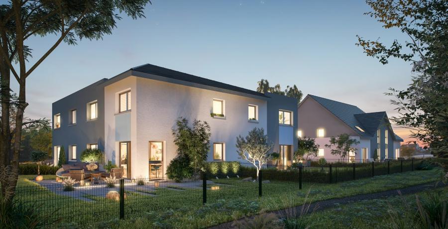 Appartement neuf Duplex-Jardin à Rosenau