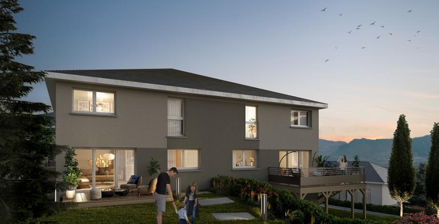 Appartement neuf Duplex-Jardin à Vovray en bornes