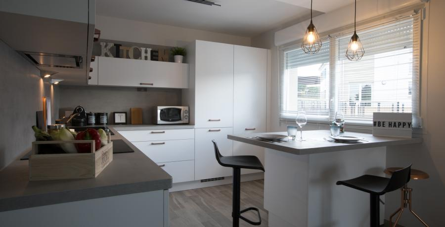 programme immobilier neuf à rouffach : les carrés 20 duplex-jardin cuisine