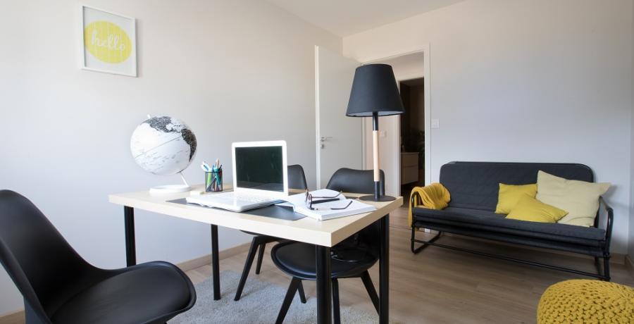 programme immobilier neuf à Duntzenheim : les carrés cyan, duplex-jardin bureau