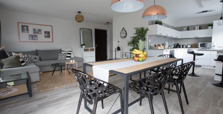 programme immobilier neuf à Duntzenheim : les carrés cyan, duplex-jardin séjour