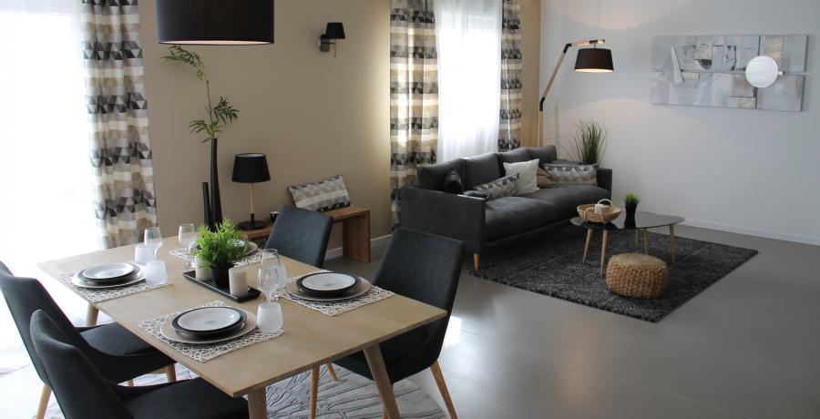 programme immobilier neuf à mamirolle : les carrés d'or duplex-jardin séjour