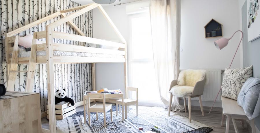 programme immobilier neuf à dambenois : les carrés channel, duplex-jardin chambre enfant
