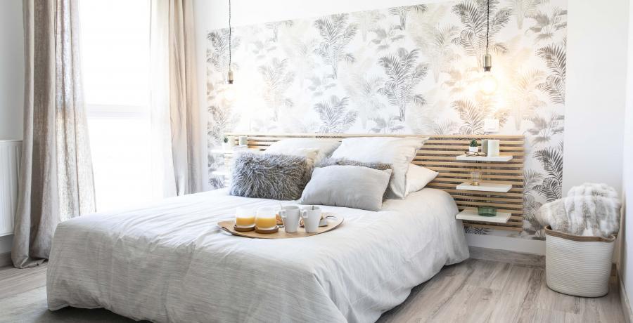programme immobilier neuf à dambenois : les carrés channel, duplex-jardin chambre
