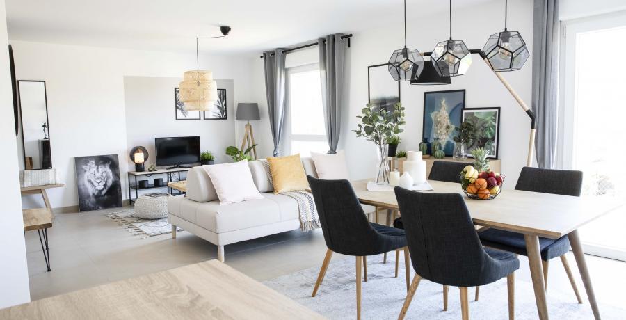 programme immobilier neuf à dambenois : les carrés channel, duplex-jardin séjour