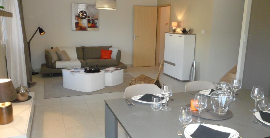programme immobilier neuf à Chassagny : les carrés du vallon, duplex-jardin salon