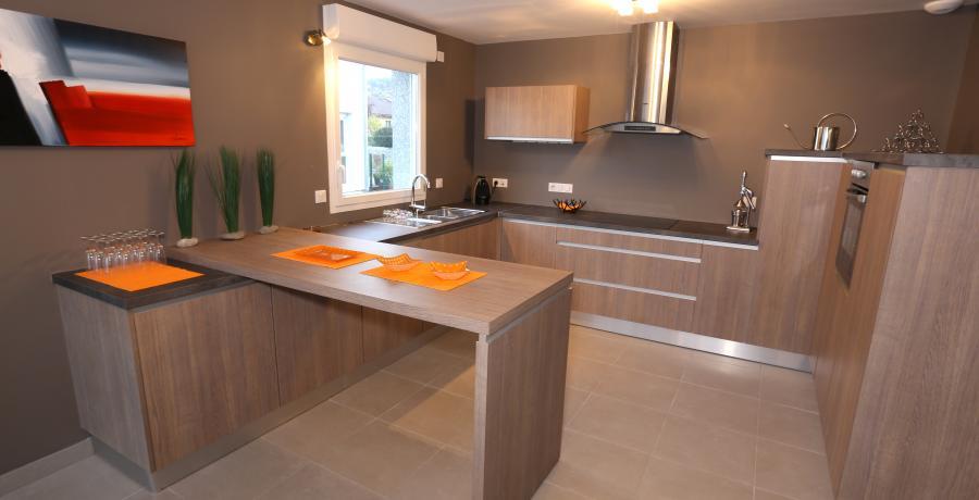 programme immobilier neuf à vovray-en-bornes : les carrés horizon duplex-jardin cuisine