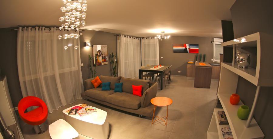 programme immobilier neuf à vovray-en-bornes : les carrés horizon duplex-jardin séjour