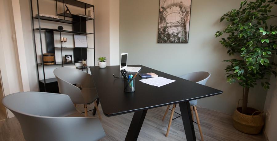 programme immobilier neuf à geispolsheim : carrés eternit'y, duplex-jardin bureau