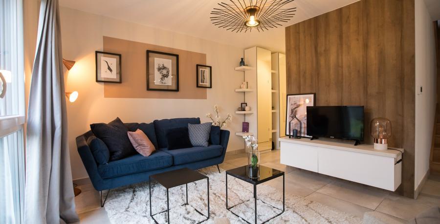 programme immobilier neuf à geispolsheim : carrés eternit'y, duplex-jardin salon